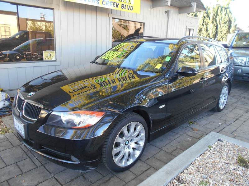 2007 BMW 3 SERIES 328XI AWD 4DR WAGON black 2-stage unlocking doors 4wd type - full time abs -