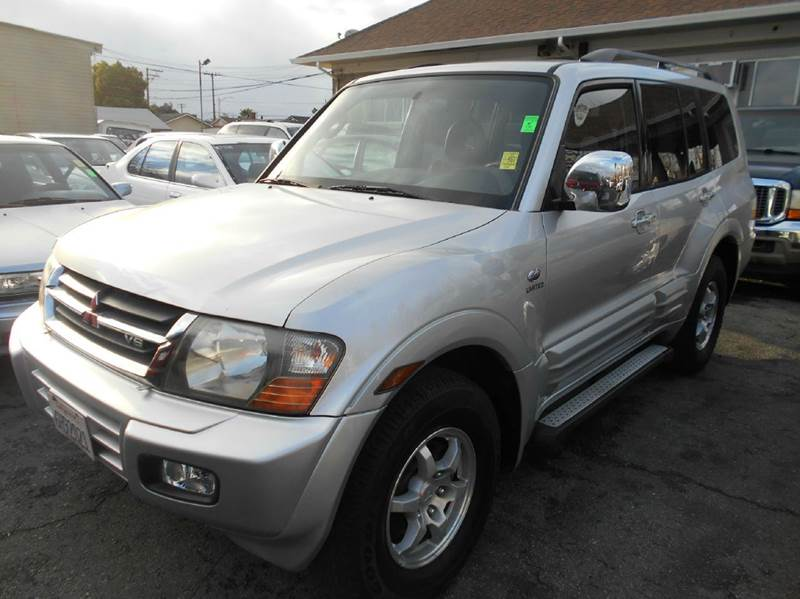 2001 MITSUBISHI MONTERO LIMITED 4WD 4DR SUV silver 4wd selector - manual hi-lo 4wd type - part t