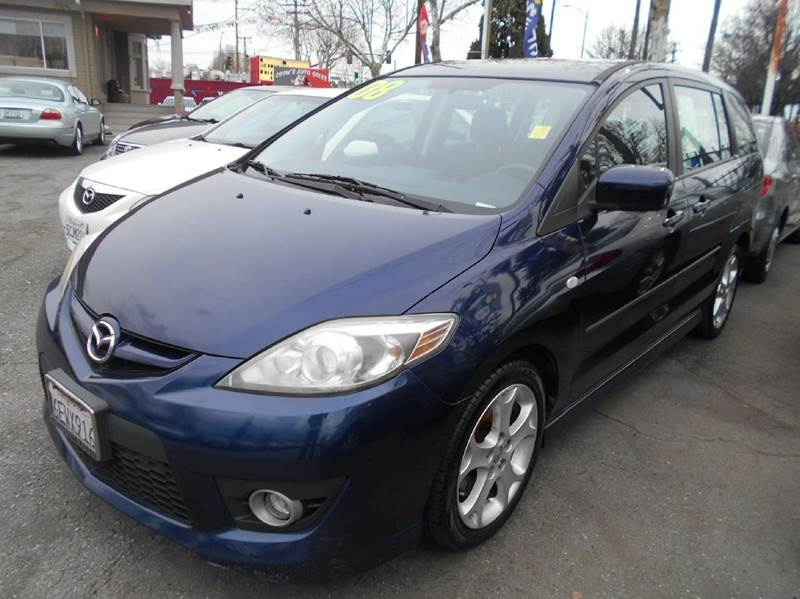 2008 MAZDA MAZDA5 SPORT 4DR MINI VAN 23L I4 5A blue 2-stage unlocking doors abs - 4-wheel ai