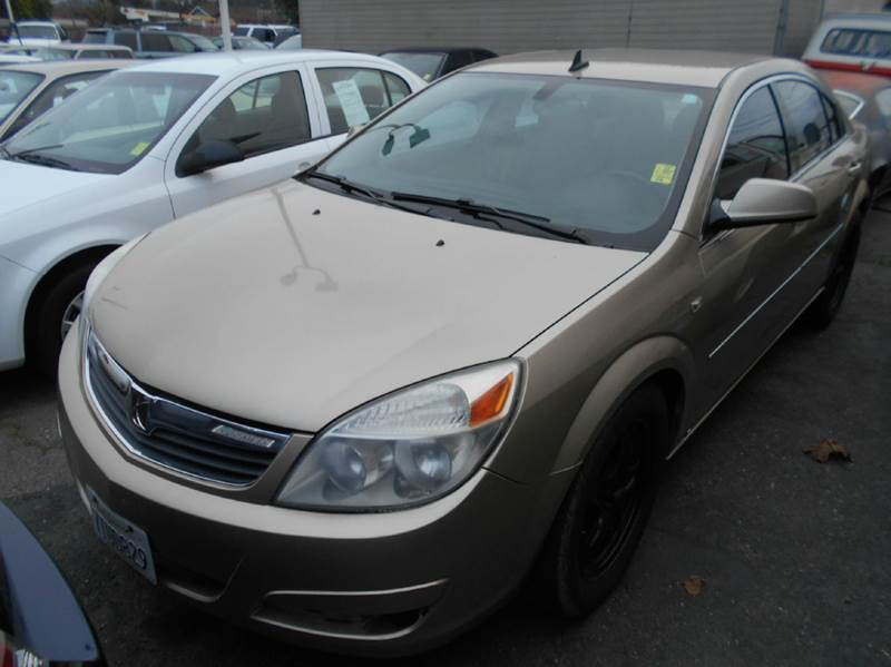 2008 SATURN AURA XE 4DR SEDAN gold 2-stage unlocking doors abs - 4-wheel airbag deactivation -