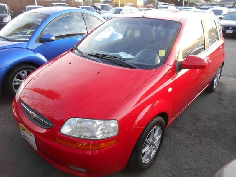 2006 CHEVROLET AVEO LS 4DR HATCHBACK red air filtration airbag deactivation - occupant sensing p