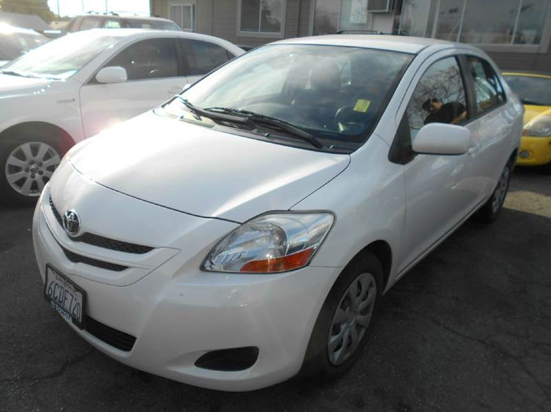 2008 TOYOTA YARIS BASE 4DR SEDAN 4A white antenna type - element body side reinforcements - side