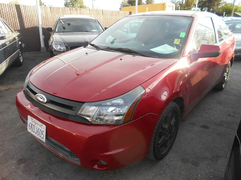 2010 FORD FOCUS SE 2DR COUPE red abs - 4-wheel airbag deactivation - occupant sensing passenger