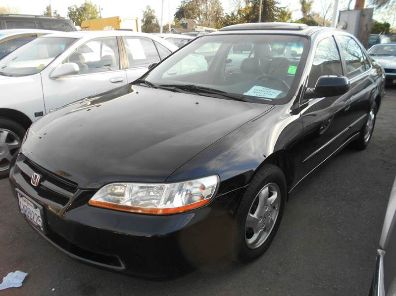 2000 HONDA ACCORD EX 4DR SEDAN black abs - 4-wheel anti-theft system - alarm center console cr