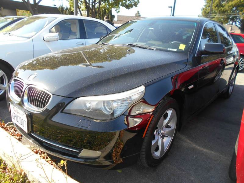 2008 BMW 5 SERIES 528I 4DR SEDAN LUXURY black abs - 4-wheel active head restraints - dual front