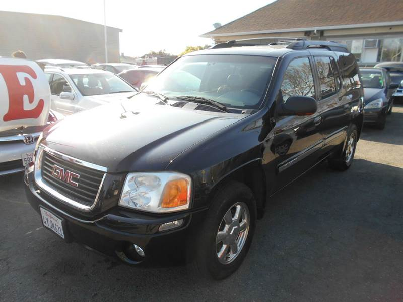 2002 GMC ENVOY XL SLT 2WD 4DR SUV black 17 inch wheels abs - 4-wheel anti-theft system - alarm
