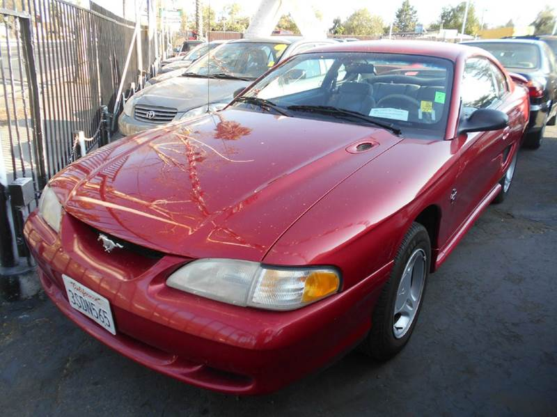 1996 FORD MUSTANG BASE 2DR COUPE red center console front airbags - dual front seat type - buck