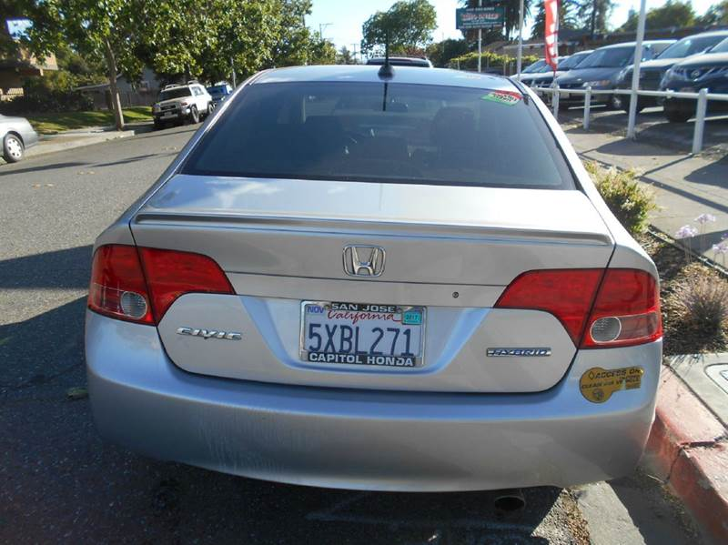 Honda San Jose >> 2007 Honda Civic Hybrid 4dr Sedan In San Jose Ca Crow S Auto Sales