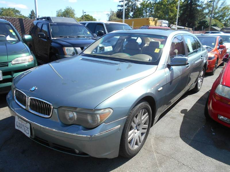 2002 BMW 7 SERIES 745LI 4DR SEDAN blue abs - 4-wheel anti-theft system - alarm center console