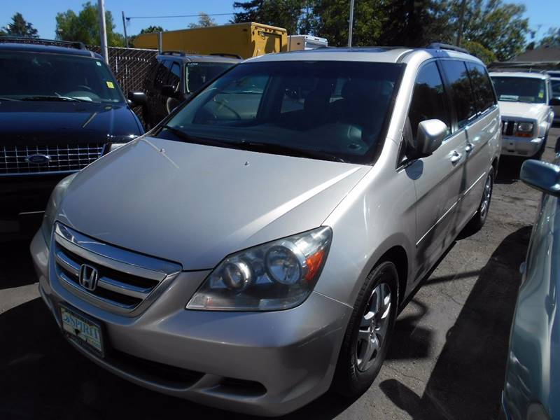 2005 HONDA ODYSSEY EX L 4DR MINI VAN WLEATHER silver rear spoiler front air conditioning - auto