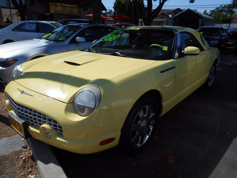 2002 FORD THUNDERBIRD DELUXE 2DR CONVERTIBLE yellow front air conditioning front air conditionin