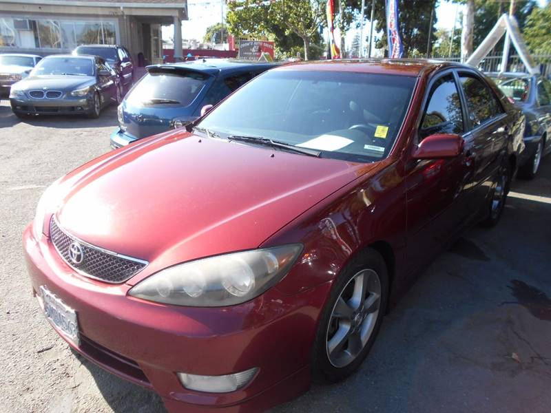 2005 TOYOTA CAMRY SE V6 4DR SEDAN red front air conditioning front air conditioning - automatic
