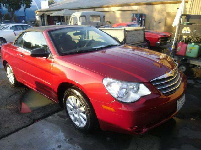 2008 CHRYSLER SEBRING LX CONVERTIBLE red 2-stage unlocking - remote abs - 4-wheel antenna type