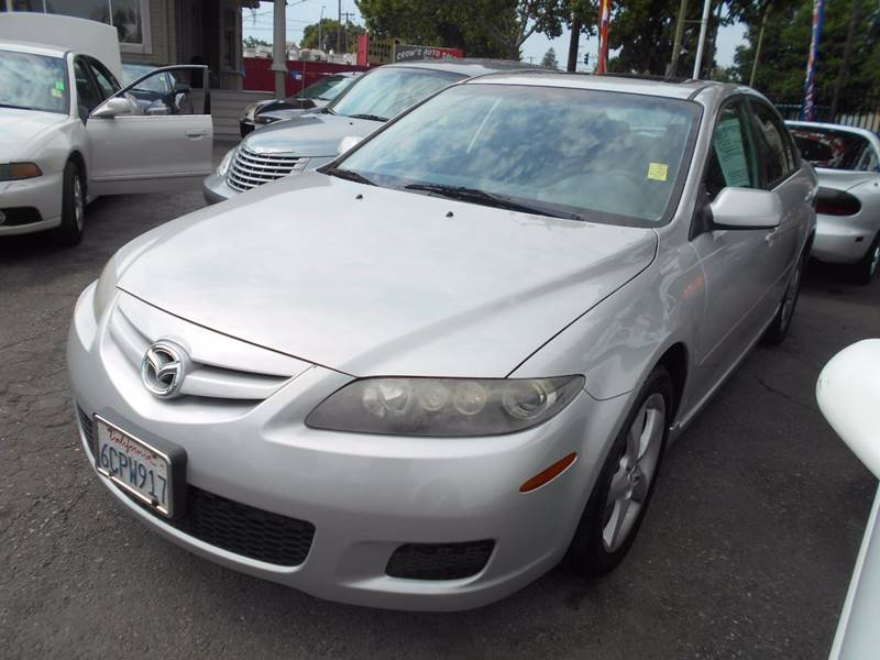 2008 MAZDA MAZDA6 I SPORT VALUE EDITION 4DR HATCHB silver rear spoiler air filtration armrests