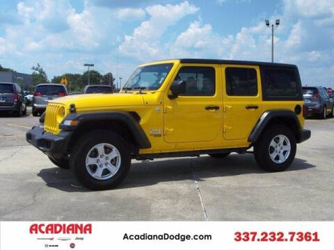 2020 Jeep Wrangler Unlimited for sale at ACADIANA DODGE CHRYSLER JEEP in Lafayette LA