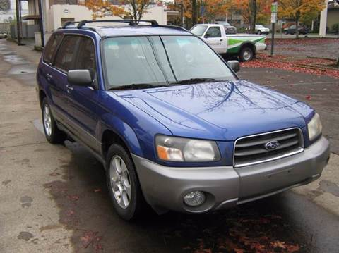 2004 Subaru Forester for sale at D & M Auto Sales in Corvallis OR