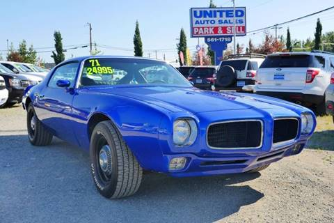 1971 Pontiac Firebird for sale at United Auto Sales in Anchorage AK