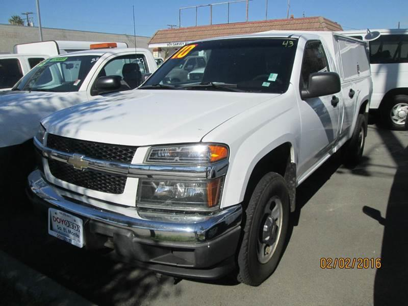 2010 Chevrolet Colorado 4x2 Work Truck 2dr Regular Cab Chassis In