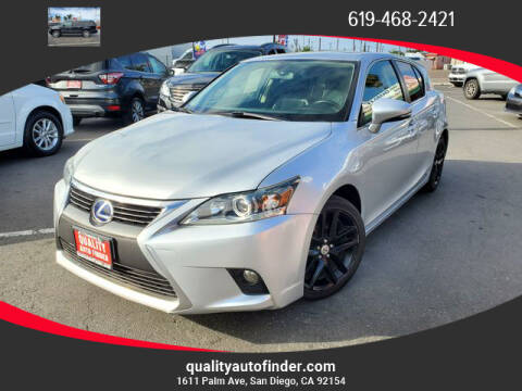 2015 Lexus CT 200h for sale at QUALITY AUTO FINDER in San Diego CA