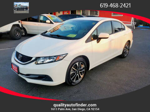 2015 Honda Civic for sale at QUALITY AUTO FINDER in San Diego CA