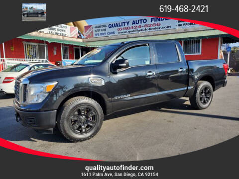 2017 Nissan Titan for sale at QUALITY AUTO FINDER in San Diego CA