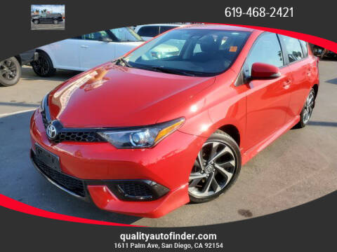 2017 Toyota Corolla iM for sale at QUALITY AUTO FINDER in San Diego CA