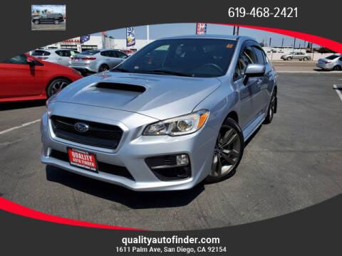 2017 Subaru WRX for sale at QUALITY AUTO FINDER in San Diego CA