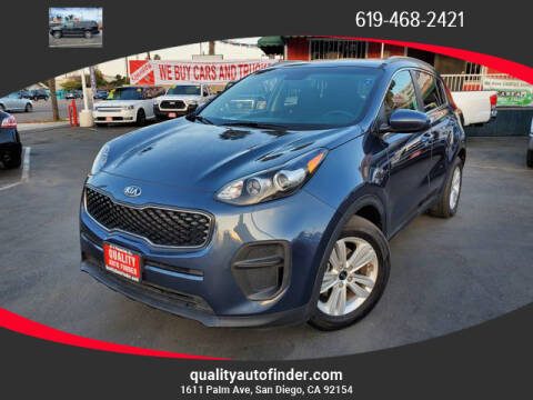 2018 Kia Sportage for sale at QUALITY AUTO FINDER in San Diego CA