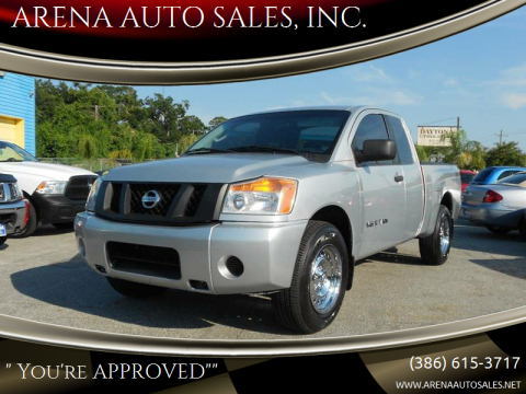 2010 Nissan Titan for sale at ARENA AUTO SALES,  INC. in Holly Hill FL