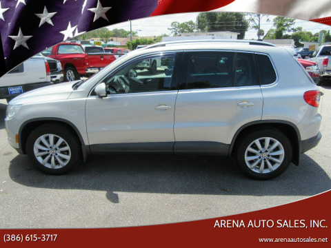 2011 Volkswagen Tiguan for sale at ARENA AUTO SALES,  INC. in Holly Hill FL