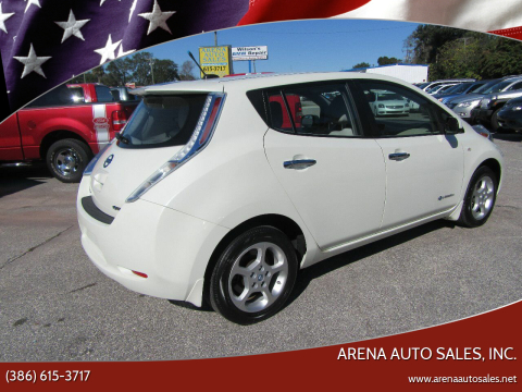 2012 Nissan LEAF for sale at ARENA AUTO SALES,  INC. in Holly Hill FL