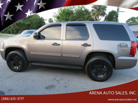 2012 Chevrolet Tahoe for sale at ARENA AUTO SALES,  INC. in Holly Hill FL