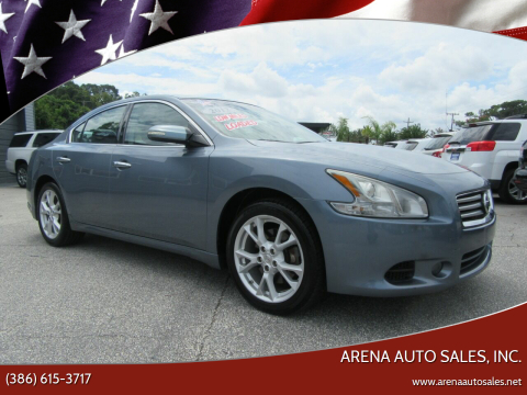 2012 Nissan Maxima for sale at ARENA AUTO SALES,  INC. in Holly Hill FL