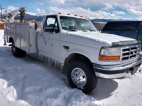 1995 Ford F-450 for sale at HIGH COUNTRY MOTORS in Granby CO