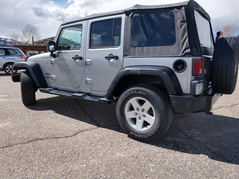 2017 Jeep Wrangler Unlimited for sale at HIGH COUNTRY MOTORS in Granby CO
