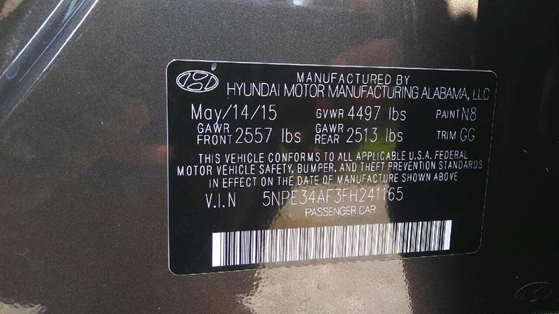 2015 Hyundai Sonata Sport 4dr Sedan - Aiken SC