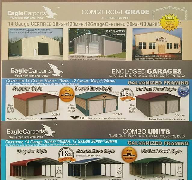 2015 Eagle Carports For Sale At PALMETTO MOTORS In Aiken SC