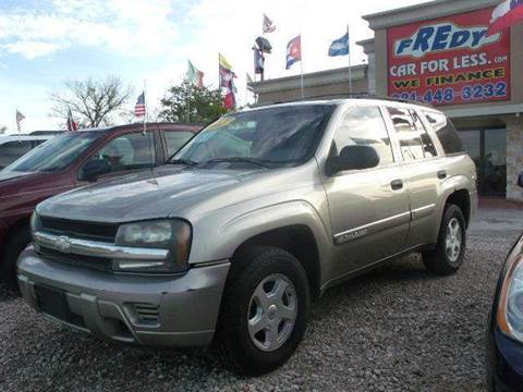 2002 Chevrolet TrailBlazer for sale at FREDYS CARS FOR LESS in Houston TX