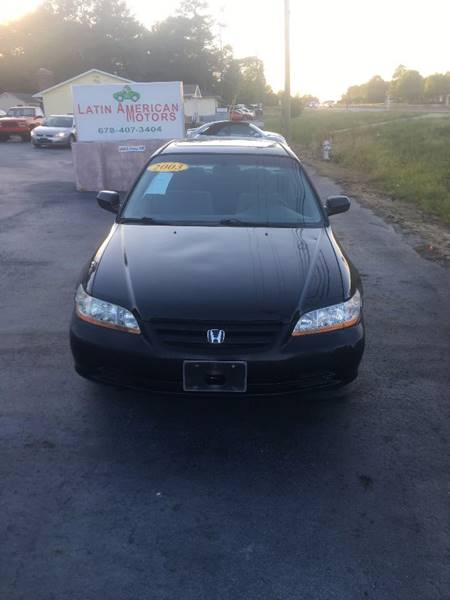 2003 Honda Accord for sale at LATIN AMERICAN MOTORS in Grayson GA