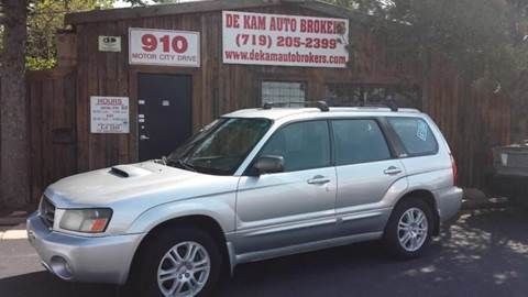 2004 Subaru Forester for sale at De Kam Auto Brokers in Colorado Springs CO