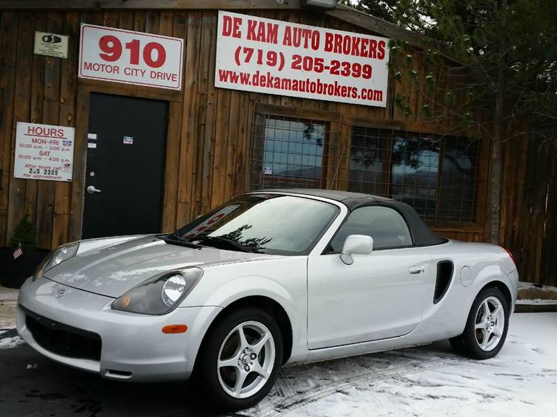 2001 Toyota MR2 Spyder for sale at De Kam Auto Brokers in Colorado Springs CO