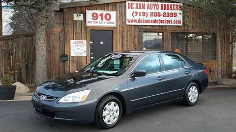 2003 Honda Accord for sale at De Kam Auto Brokers in Colorado Springs CO