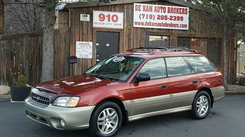 2003 Subaru Outback for sale at De Kam Auto Brokers in Colorado Springs CO