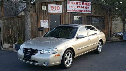 2001 Nissan Maxima for sale at De Kam Auto Brokers in Colorado Springs CO