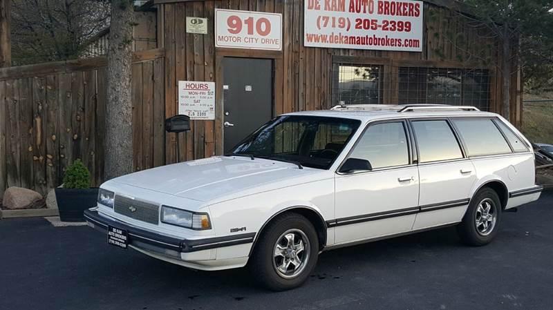 1987 Chevrolet Celebrity for sale at De Kam Auto Brokers in Colorado Springs CO
