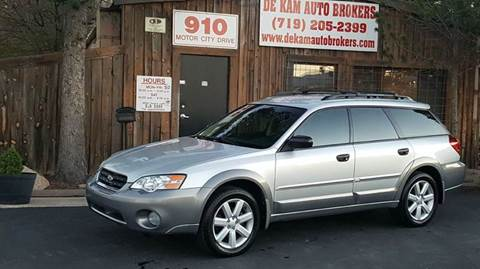 2006 Subaru Outback for sale at De Kam Auto Brokers in Colorado Springs CO