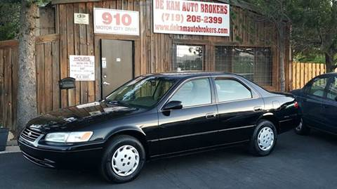 1998 Toyota Camry for sale at De Kam Auto Brokers in Colorado Springs CO