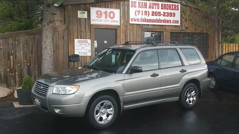 2006 Subaru Forester for sale at De Kam Auto Brokers in Colorado Springs CO