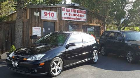 2004 Ford Focus SVT for sale at De Kam Auto Brokers in Colorado Springs CO