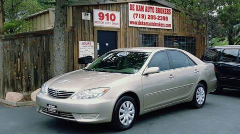 2005 Toyota Camry for sale at De Kam Auto Brokers in Colorado Springs CO